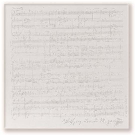 Carnet de notes Mozart