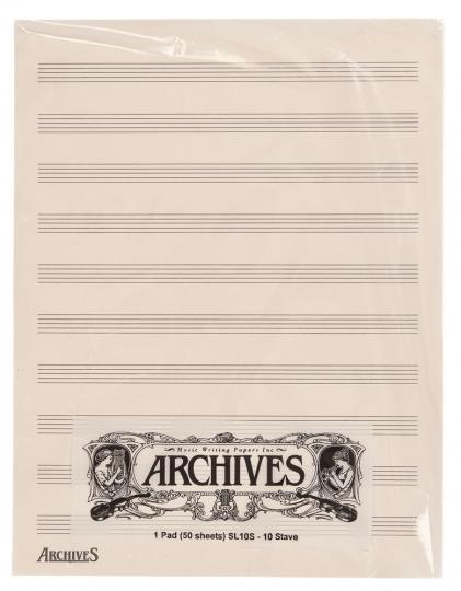Bloc musique 10 portées - 50 feuilles