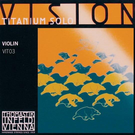Infeld Vision Titanium Corde de ré Violon, tirant moyen