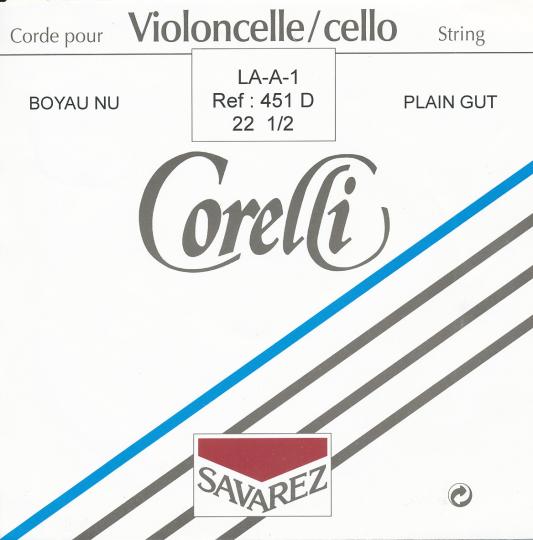 CORELLI , LA boyau calibre 22 1/2, nu, pour violoncelle