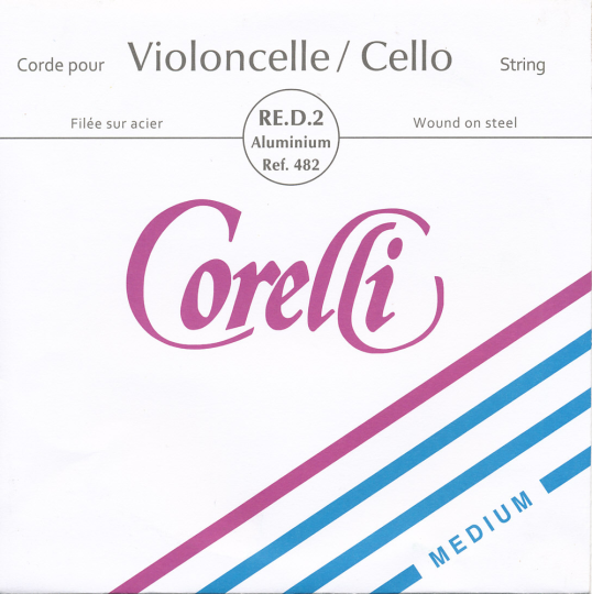CORELLI, Ré  acier tirant moyen, pour violoncelle