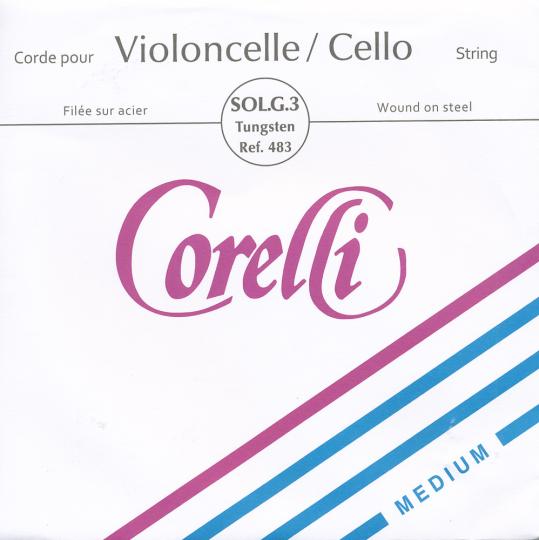 CORELLI, Sol acier tirant moyen, pour violoncelle