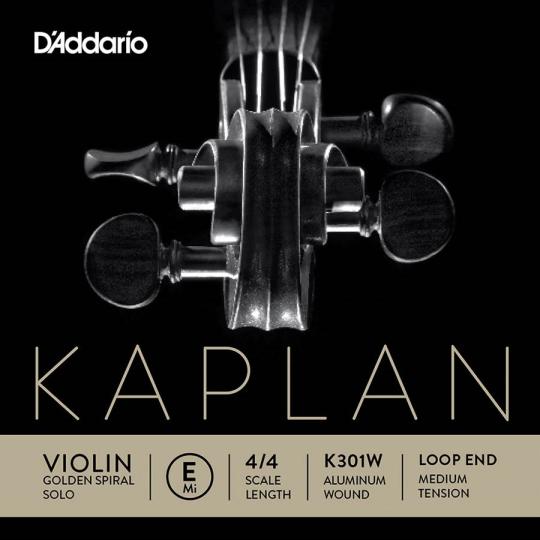 KAPLAN Golden Spiral Solo, mi boucle pour violon tirant moyen
