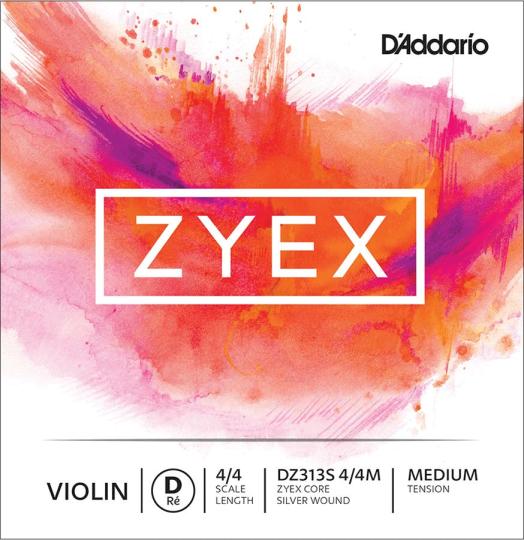 D´ADDARIO Zyex, ré argent tirant moyen, pour violon