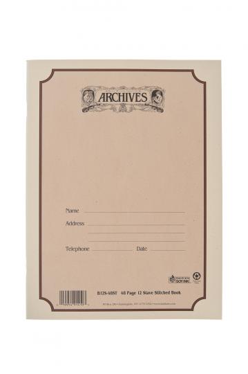 Cahier de musique 12 portées 48 feuilles