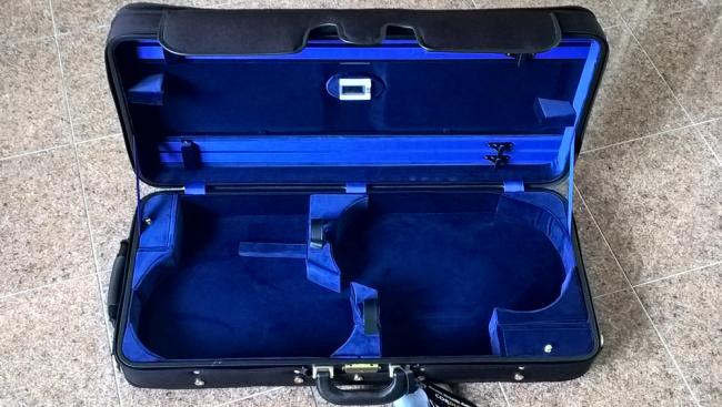 Winter 3032, étui pour un violon et un alto, intérieur noir, extérieur bleu