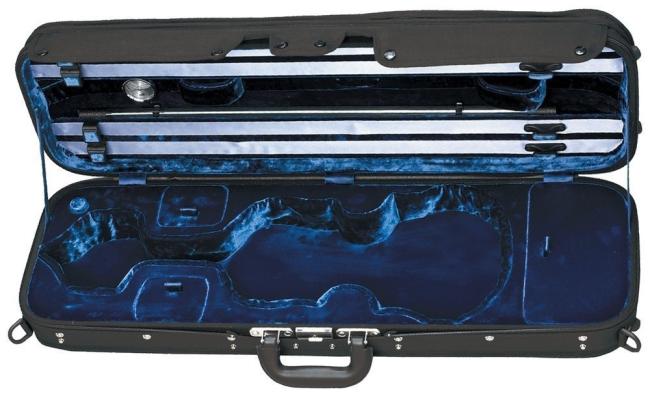 GEWA Maestro, Etui rectangulaire  pour violon 4/4 noir / bleu