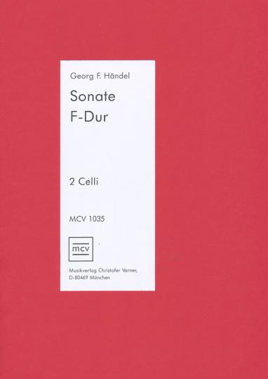 G.F.Händel (1685-1759), Sonate en fa majeur , pour 2 violoncelles