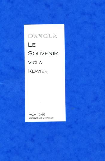 Charles Dancla (1817-1907), Le souvenir, pour piano et alto