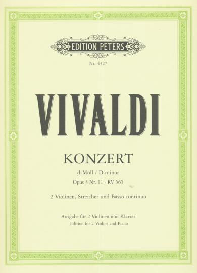 Vivaldi, Konzert d-Moll, Opus 3 Nr. 11, RV 565