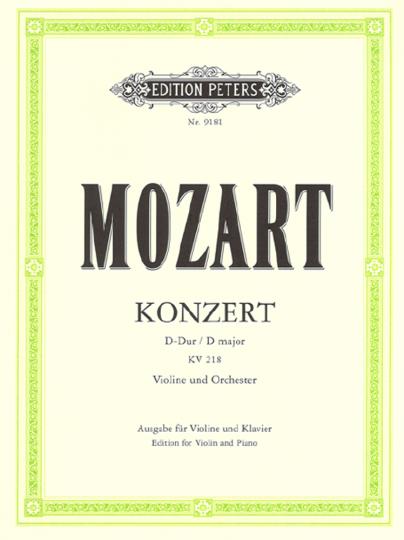 W.A. Mozart, Violinkonzert Nr. 4 D-Dur, KV 218 mit Kadenz Urtext