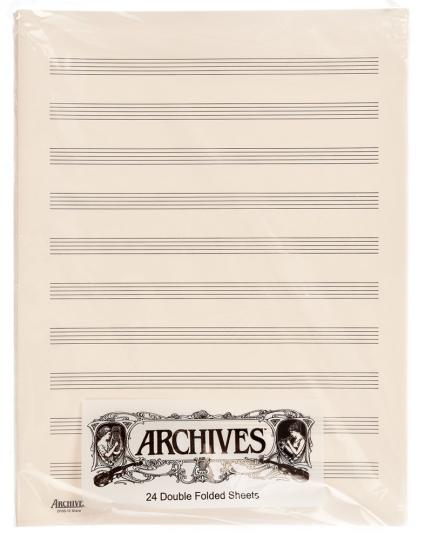 Papier à musique pages doubles 10 portées - 24 feuilles
