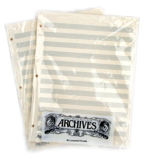 Papier à musique 12 portées - 50 feuilles