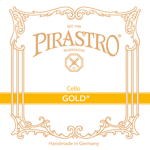 Pirastro Gold, corde de ré pour violoncelle, tirant moyen