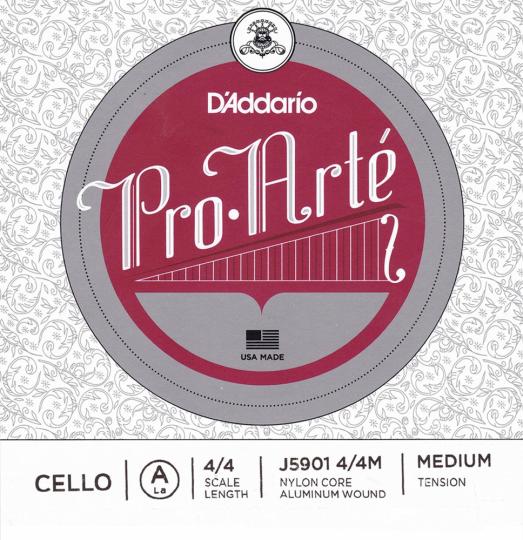 D´ADDARIO Pro  Arté, jeu tirant moyen pour violoncelle